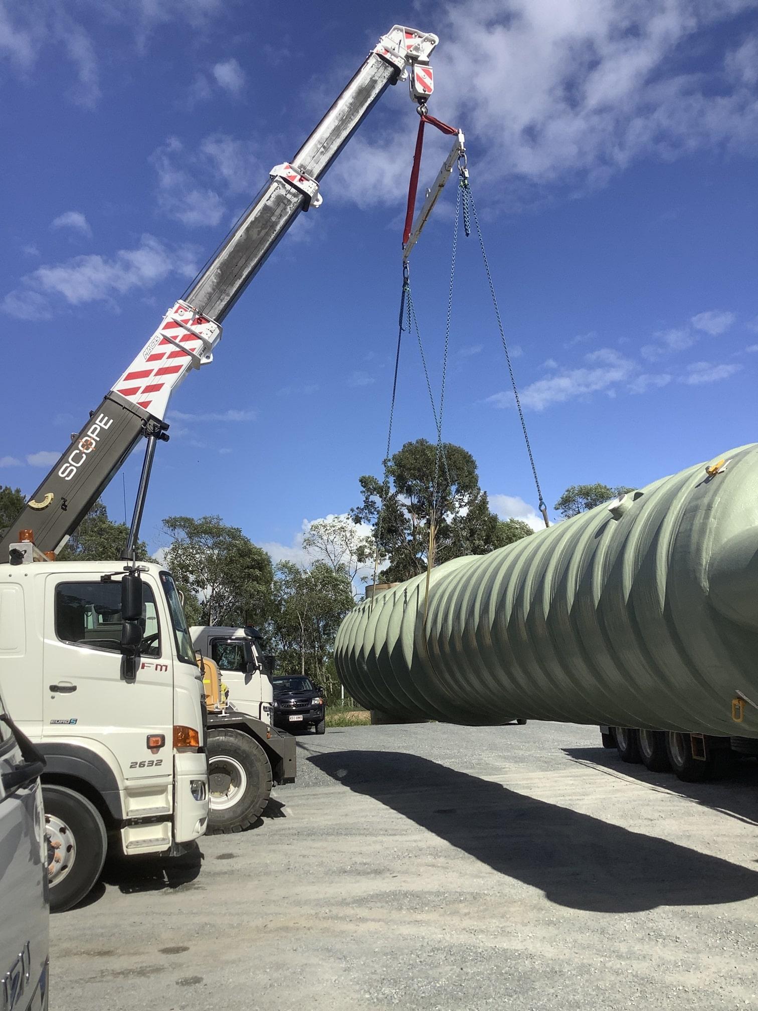 scopecranes crane truck hire lifting heavy load