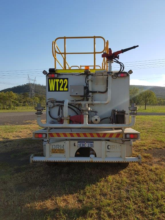 Sunshine Coast Water Carts Isuzu truck mounted 14,000-litre water cart