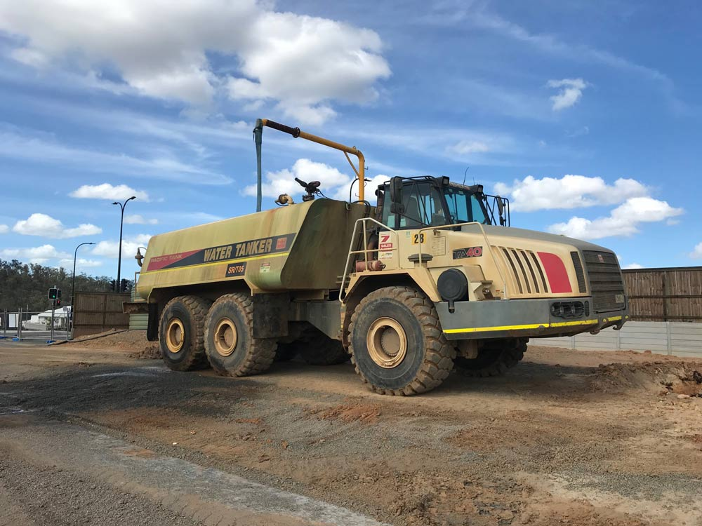 Sunshine Coast Water Carts TEREX TA40 refilling