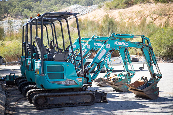 Sweeney Hire SK17SR Kobelco 1.7 tonne Mounted Excavators