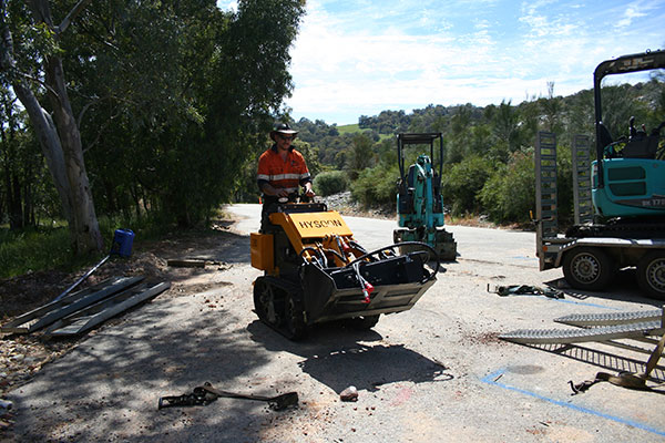 Sweeney Hire Tight Access Excavation Services Excavator on Residential Project