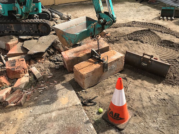 Sweeney Hire Tight Access Excavation Peel