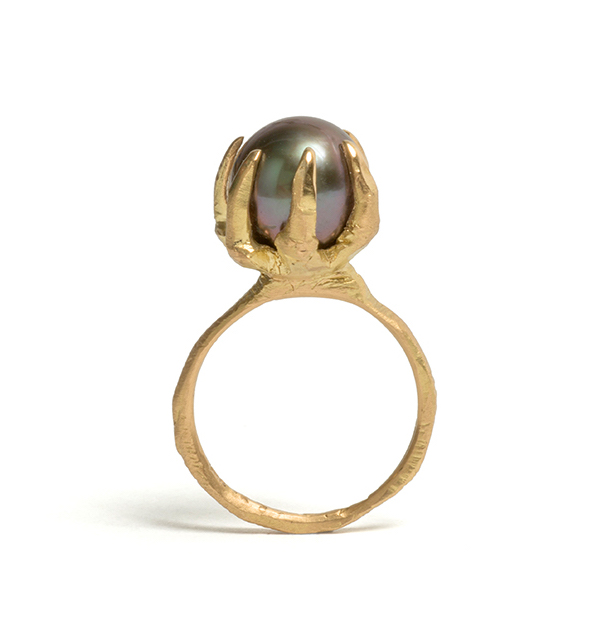 Tessa Blazey | Pearl & 18ct yellow gold | Unique handmade engagement ring | Melbourne | custom ring Australian Contemporary