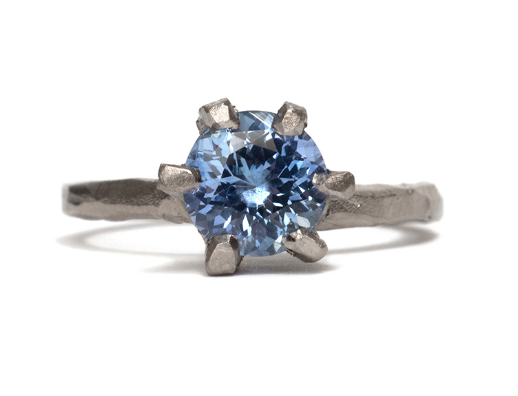 Tessa Blazey | Sapphire & 18ct white gold | Unique handmade engagement ring | Melbourne | Australian Contemporary Jewellery