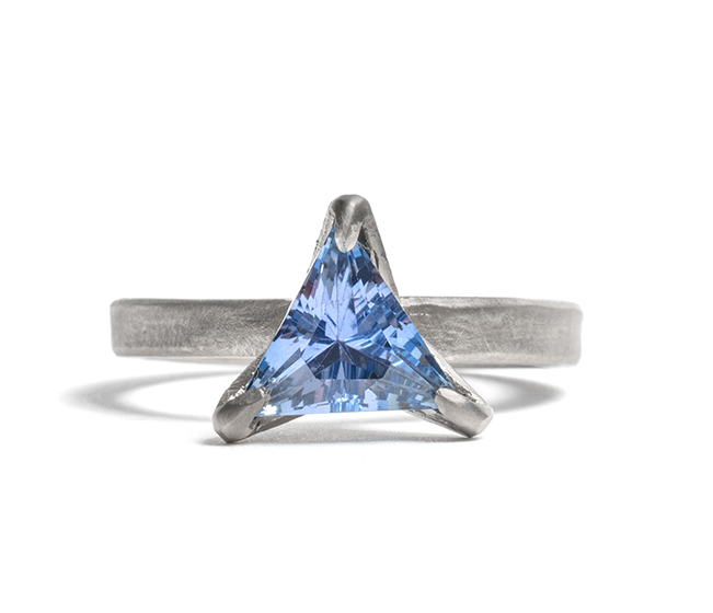 Tessa Blazey | sapphire & 18ct white gold | Unique handmade engagement ring | Melbourne | bespoke ring
