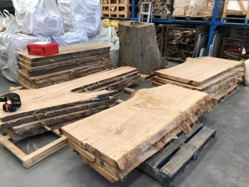 Trimmed timber