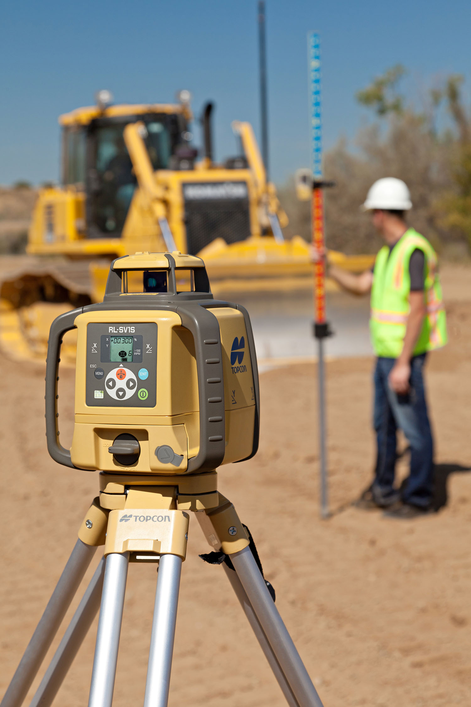 TopCon Laser Surveying machine with Grader