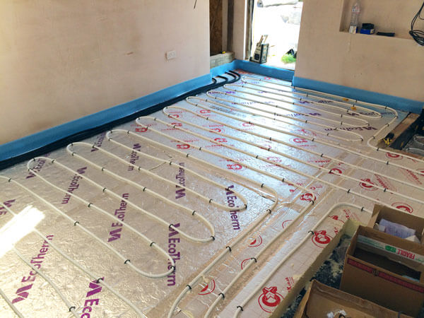 Underfloor heating can be powered by any fuel