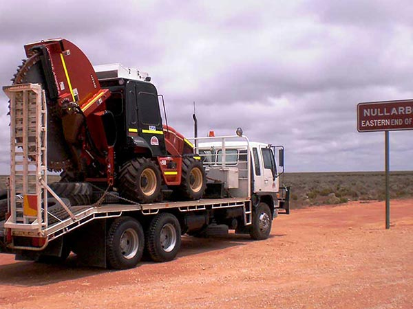 Truck and trencher