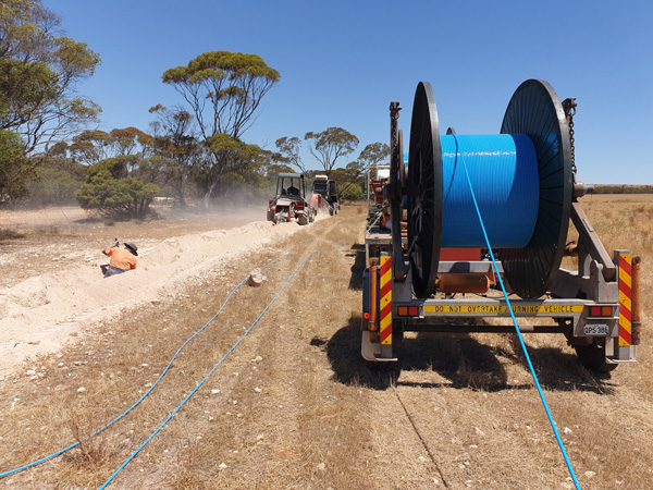 Cable laying