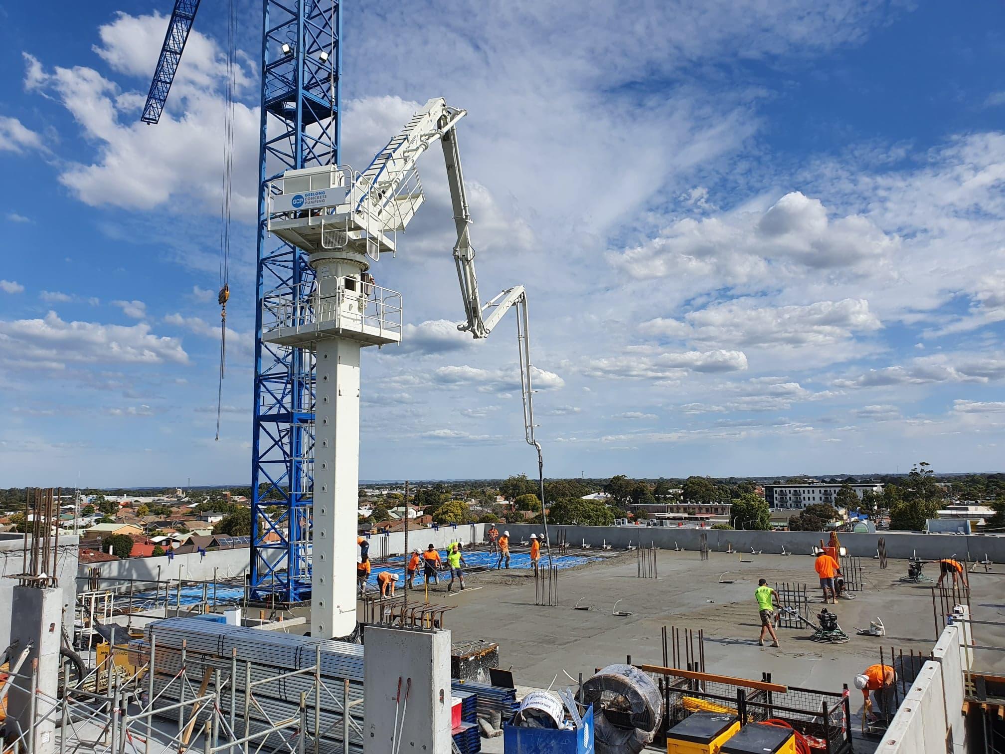 Geelong-Concrete-Pumping-High-Rise-Pump-Hire-Melbourne