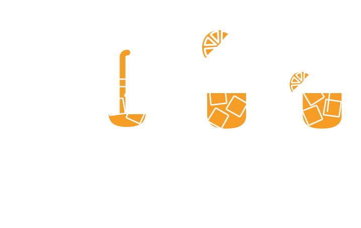 instructions for a perfect serve from a can. Ice, pour, orange slice and stir